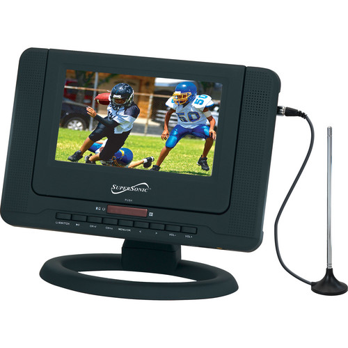 """Supersonic SC-491 7"""" Portable LCD TV with DVD Player"""