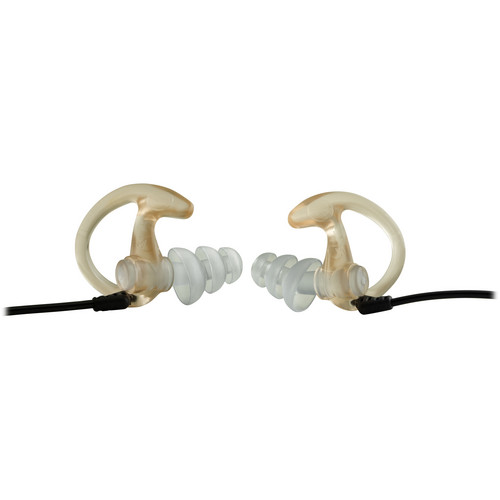 SureFire EP5 Sonic Defenders Max Earplugs (Large, Clear, 1 Pair)