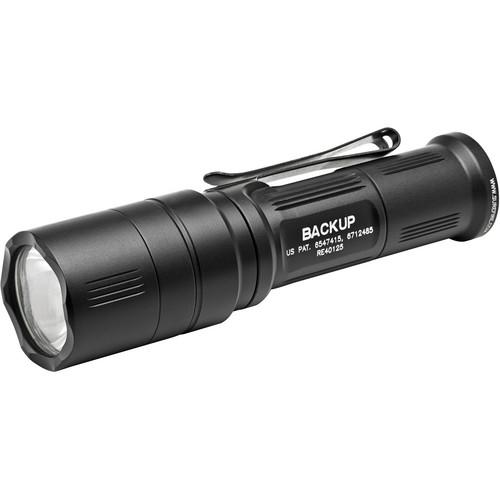SureFire EB1 Backup LED Flashlight (Shrouded Tailcap, Black)