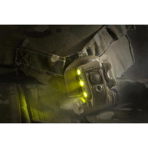 SureFire HL1-A Dual Output Yellow-Green/Infrared LED Helmet Light (Desert Tan)