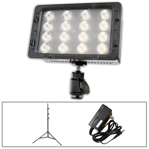 Switronix 200W LED On-Cam Light And Power With Impact Stand B&H Kit