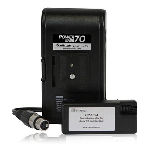 """Switronix PowerBase 70 Battery for Sony F3 and Panasonic GH4 YAGH (24"""" Cable)"""