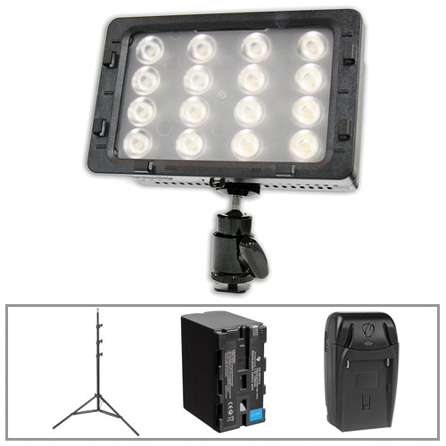 Switronix TorchLED Bolt LED Light with Light Stand and Power Kit