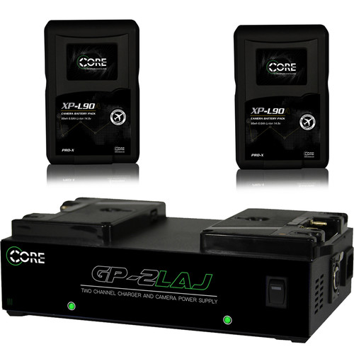 Core SWX XP-L90A Anton Bauer Gold Mount Battery and Charger Kit