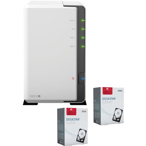 Synology DiskStation 8TB (7200rpm) DS212j 2-Bay NAS Server (2x 4TB Hard Drives)