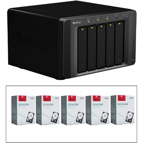 "Synology DiskStation DS1512+ 5-Bay NAS & 20TB Hitachi Deskstar 3.5"" HDD Kit"
