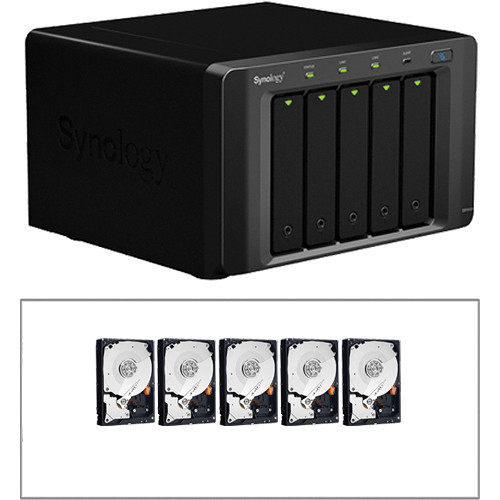 "Synology DiskStation DS1512+ 5-Bay NAS & 10TB 3.5"" HDD Kit"