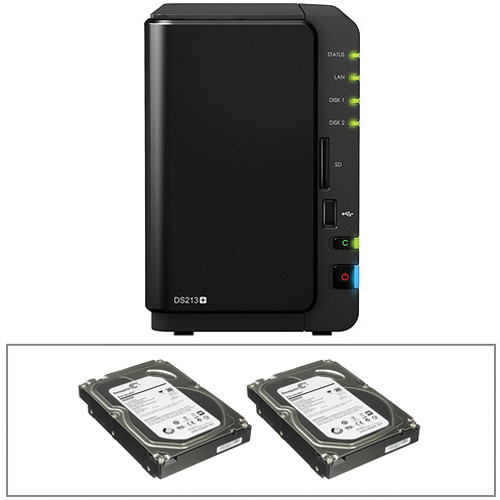 Synology 6TB (2x 3TB) DiskStation DS213+ All-in-One 2-Bay NAS Server