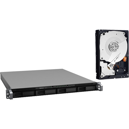 Synology 8TB (4x2TB) RackStation RS812 4-Bay NAS Server with SATA Hard Drives Kit
