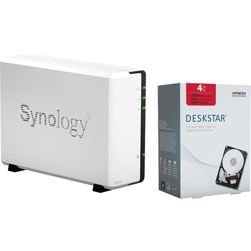 Synology 4TB DiskStation DS112 1-Bay NAS Server