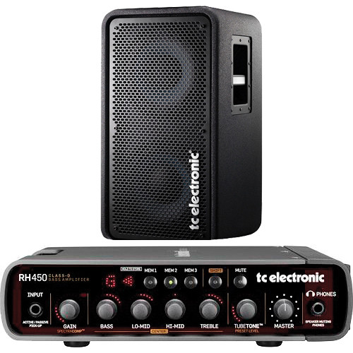 TC Electronic RH450 Bass Amplifier and RS210 Speaker Cabinet Kit