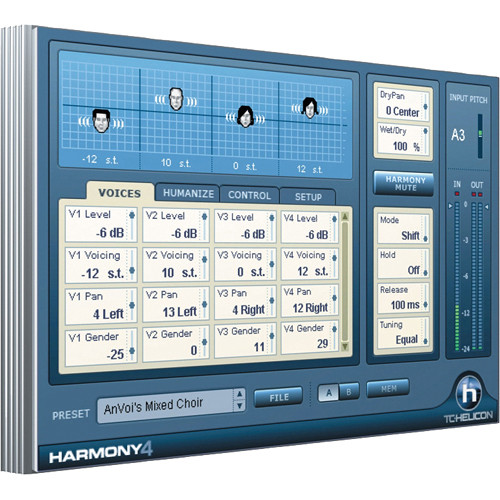 TC-Helicon Harmony4 - Virtual Harmony Voice Generating TDM Plug-In (Download)