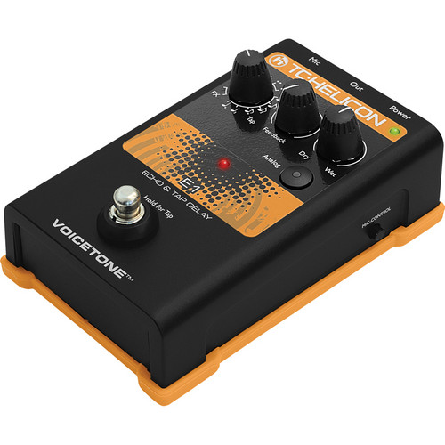 TC-Helicon VoiceTone E1 Echo and Tap Delay Pedal