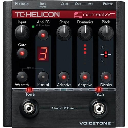 TC-Helicon VoiceTone Correct XT Adaptive Tone, Correction and Anti-feedback Pedal