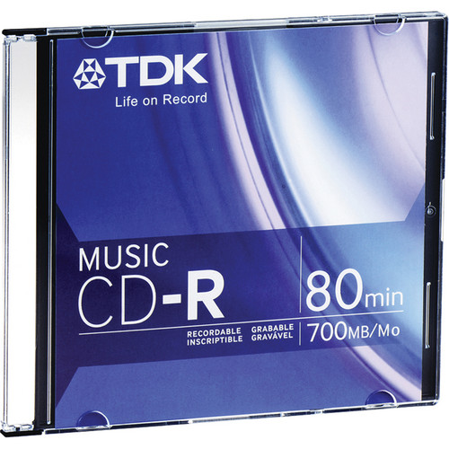 TDK Music CD-R Recordable Disc (80 Minutes) With Jewel Case