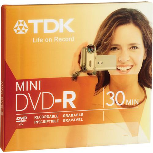 "TDK DVD-R Mini 3"" (8cm) Recordable Disc 1.4GB 2x (Jewel Case)"