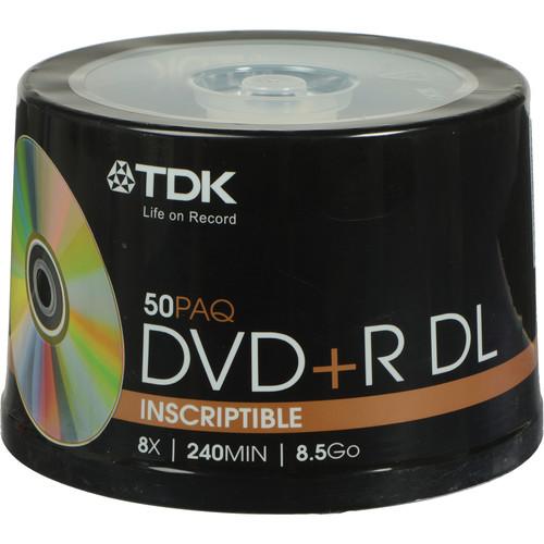 TDK DVD+R DL 8.5GB Disc (50)