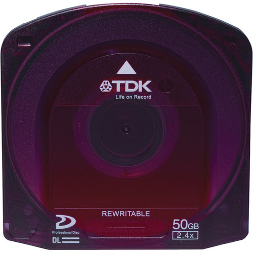 TDK 50GB Rewriteable Dual Layer Professional Disc for XDCAM