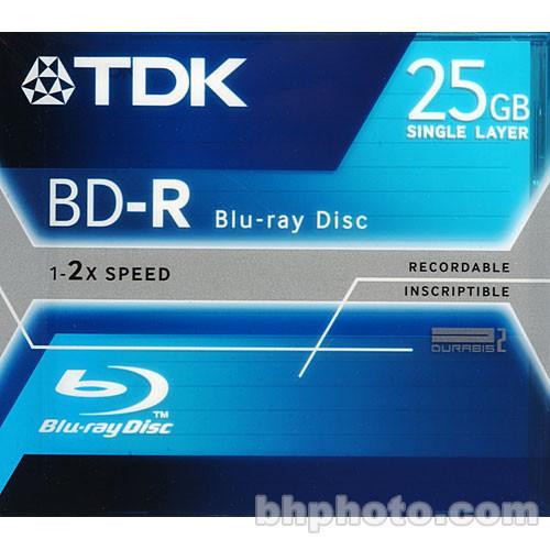 TDK BD-R-25A Blu-ray Recordable Disc