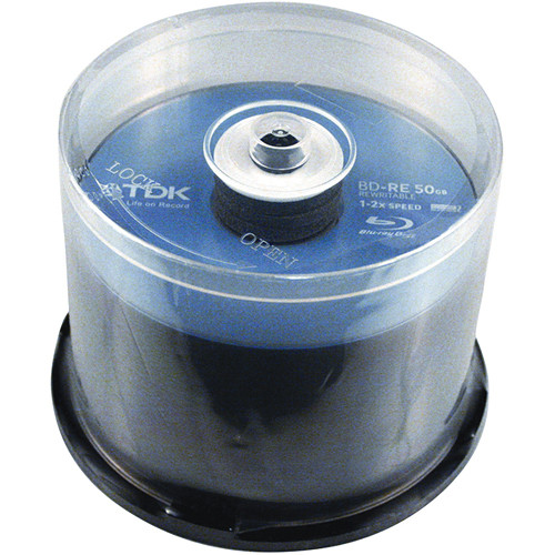 TDK BD-RE50GB Blu-Ray Re-Recordable Disc (50 Pack Spindle)