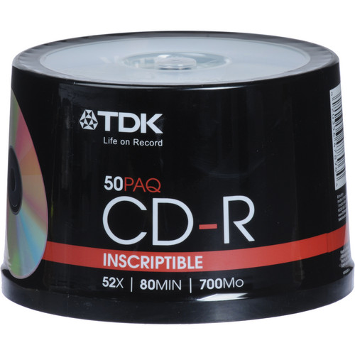TDK CD-R 52x Disc (50)