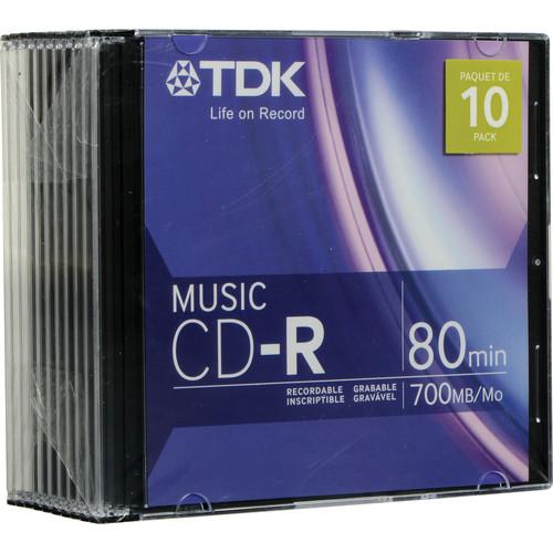 TDK CD-R 32x Music Disc (10)