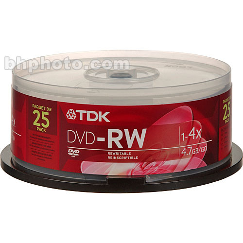 TDK 4.7GB DVD-RW Disc - 25 Spindle