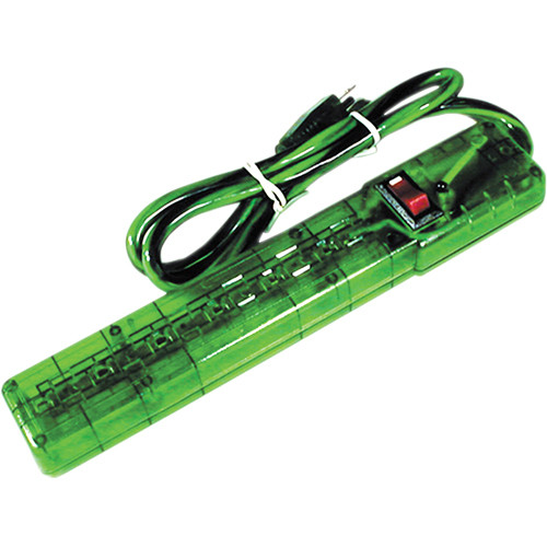 Power Play Products PP-16103MGD 6 - Outlet Surge Protector (Translucent Green)
