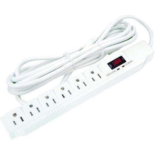 Power Play Products PP-16315-15 6 - Outlet Surge Protector (Full Size)