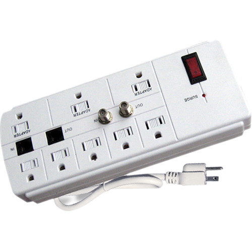 Power Play Products PP-18926DSSW 8 - Outlet Pinnacle Surge Protector (White)