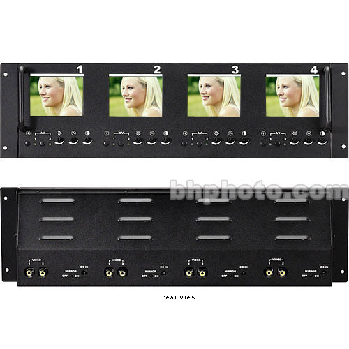 TV One LM-404R Quad 4-Inch LCD Monitors, Rack Mountable