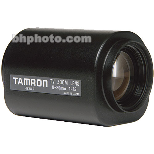 "Tamron 12PZG10X8C 1/2"" 8-80mm F/1.8 Compact Motorized C-Mount Lens"