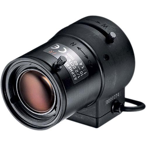 "Tamron 12VA1040ASIR 1/2"" 10-40mm F/1.4 Infrared Auto Iris Video Lens, C-Mount, Vari-Focal, Focus Lock"
