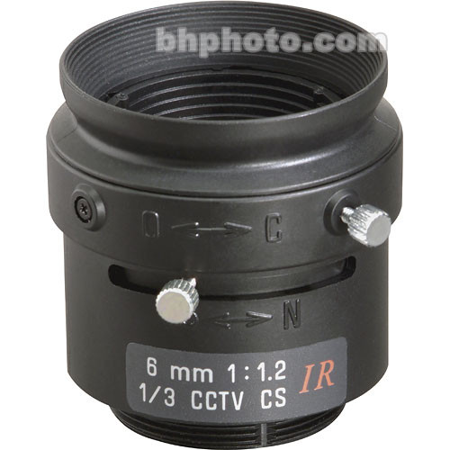 "Tamron 13FM06IR 1/3"" 6mm F/1.2 CS-Mount Manual Lens"
