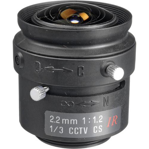 "Tamron 13FM22IR 1/3"" 2.2mm F/1.2 Compact CS-Mount Lens with Ring Lock"