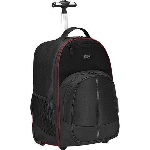 "Targus 16"" Compact Rolling Backpack (Black / Red)"