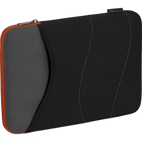"Targus 13.3"" Quash Sleeve (Fits PC laptops,Mac Air,Macbook Pro, Ultrabooks up to 13.3"", Black/Gray/Tangerine)"