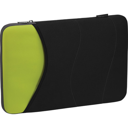 "Targus 15"" Quash Sleeve (Fits Macbook Pro up to 15"", Black/Green/Gray)"