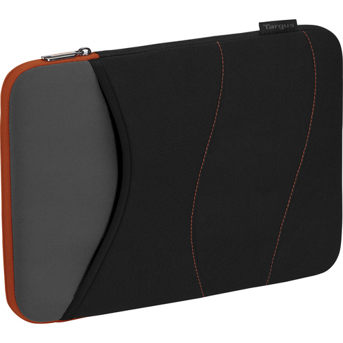 "Targus 15"" Quash Sleeve (Fits Macbook Pro up to 15"", Black/Gray/Tangerine)"