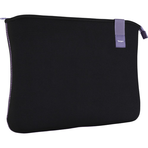 "Targus 16"" Bonafide Sleeve (Fits Laptops up to 16"", Black/Orchid Mist)"
