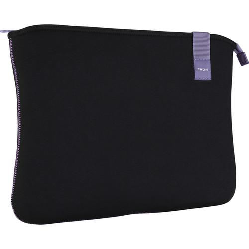 """Targus 16"""" Bonafide Sleeve (Fits Laptops up to 16"""", Black/Orchid Mist)"""