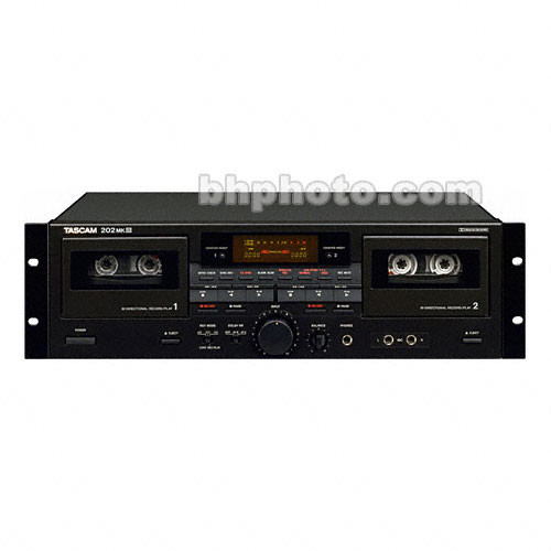 Tascam 202MKIII Dual Well Stereo Cassette Deck