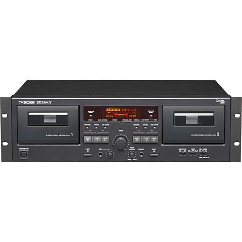 Tascam 202mkV Rackmount Dual Cassette Recorder/Player