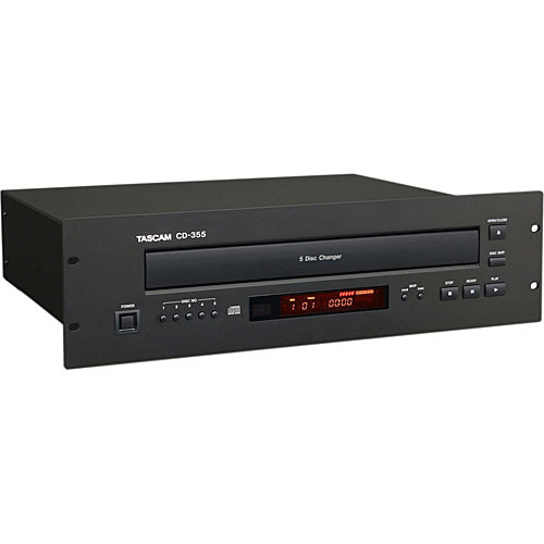 Tascam CD-355 - Rack Mountable 5-Disc CD Changer