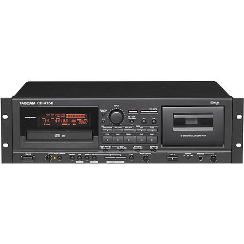Tascam CD-A750 Rackmount CD Player/Cassette Recorder
