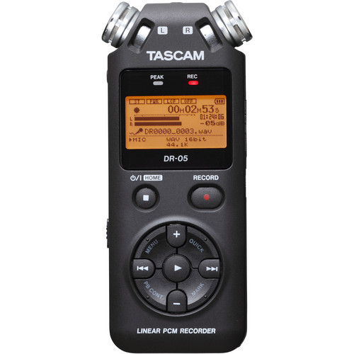 Tascam DR-05 Portable Handheld Digital Audio Recorder (Black)