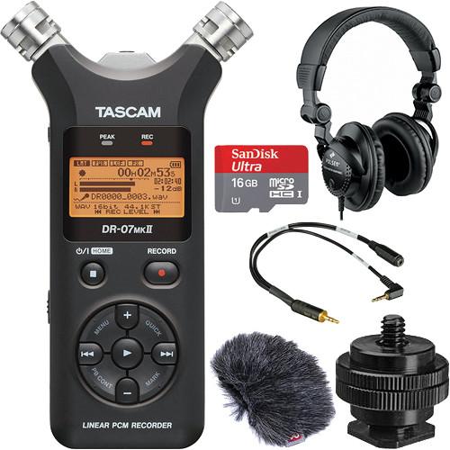 Tascam DR-07mkII On-Camera DSLR Audio Kit