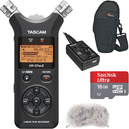 Tascam DR-07mkII Portable Recorder Value Pack