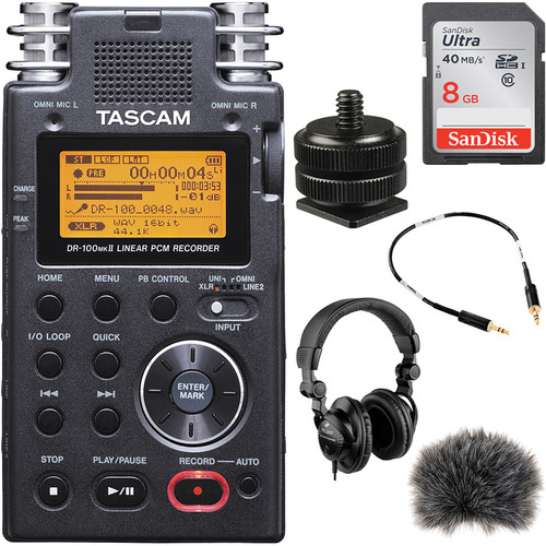 Tascam DR-100mkII On-Camera DSLR Audio Kit