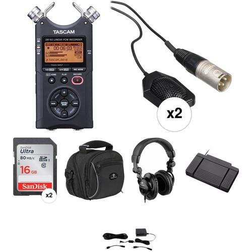 Tascam DR-40 Court Room Recording/Transcriber Bundle